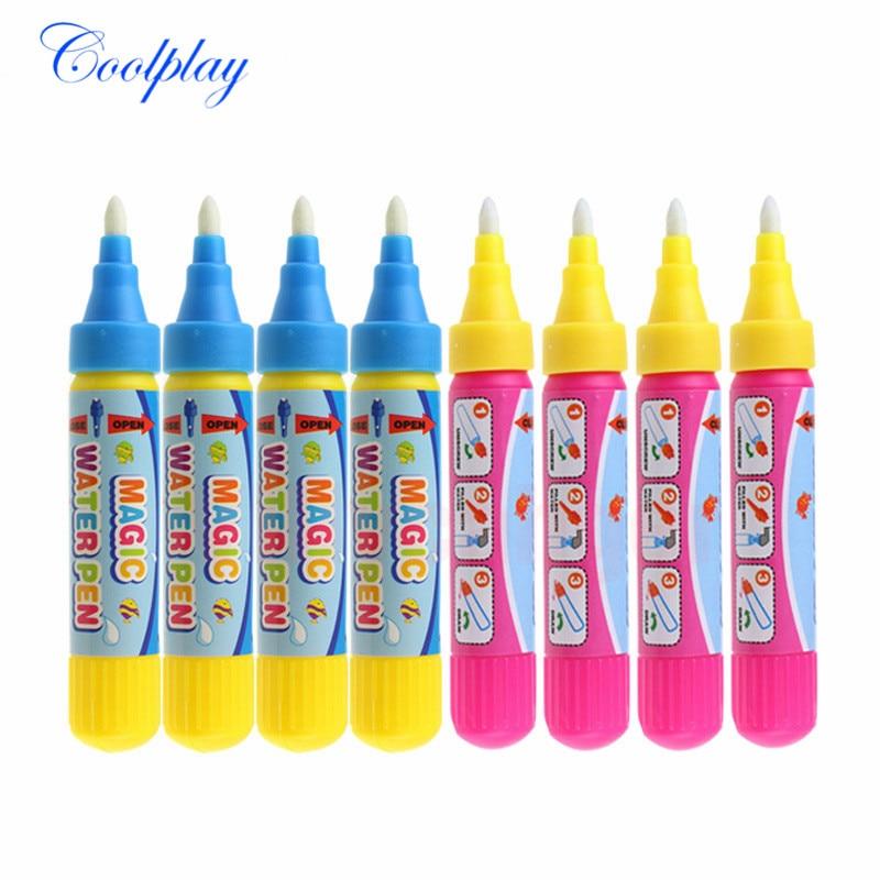 4pcs/set Magic Water Drawing Pen / Doodle Pen / Magic Water Painting Pen / Water Drawing Replacement Tool Education Toy For Kids
