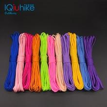 IQiuhike 250 цветов Паракорд 550 веревка Тип III 7 подставка 100 футов 50 футов Паракорд парашютный шнур веревка набор для выживания