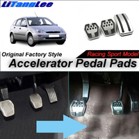 LitangLee Car Accelerator Pedal Pad Cover Foot Throttle Pedal Cover Sport Racing Model For Ford For Focus MK1 1998~2004 MT