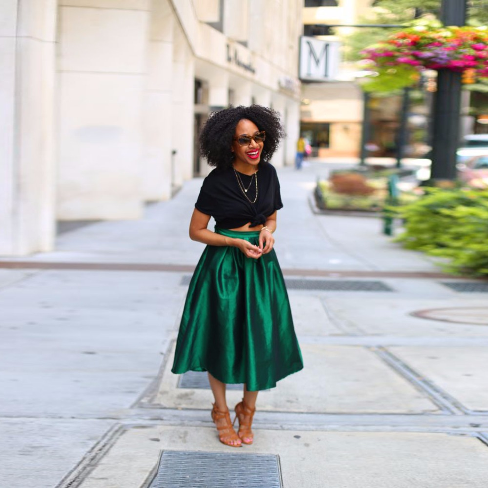 Midi Skirt Green - Dress Ala