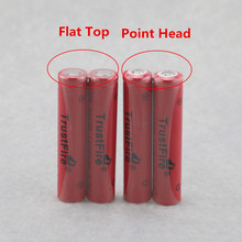 4pcs/lot TrustFire IMR 14650 1100mAh 3.7V High Drain Power Rechargeable Battery Lithium Batteries Output 5A For E-cigarettes Flat Top/ Point Head