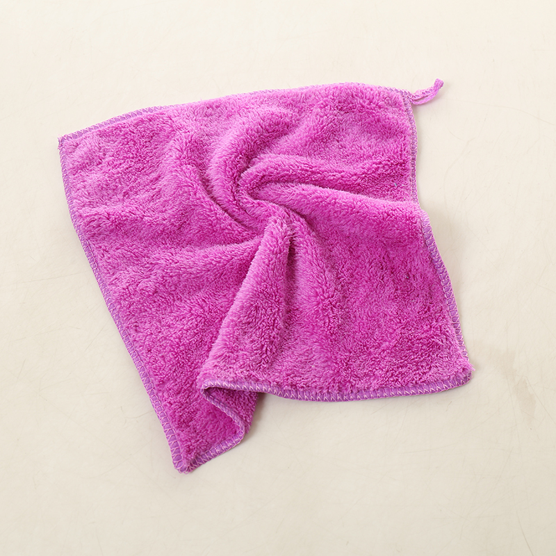 Coral Velvet Hand Towels Bathroom Hanging Wipe