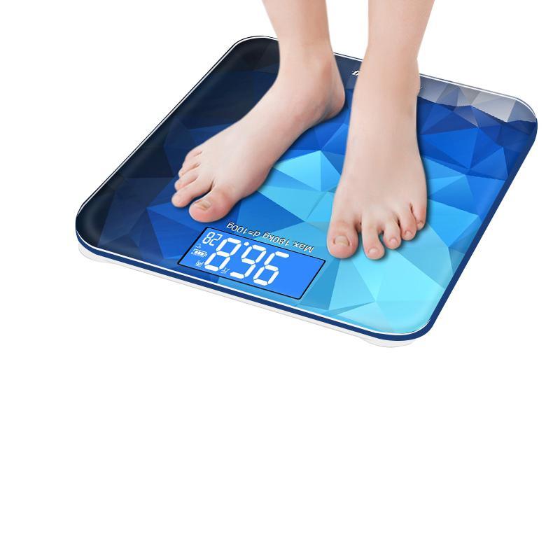 Adeeing Digitale Körper Gewicht Skala Präzision haushalt Badezimmer Mit Einem Gewicht Von Maschine Led-hintergrundbeleuchtung Display schiff von Russland