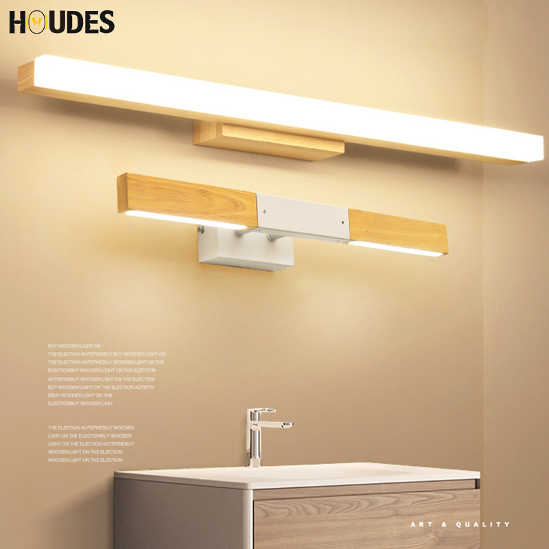 Simple solid wood led mirror headlights wall lamp bathroom mirror cabinet lighting reading light waterproof anti-fog lamps Wall одеяла william roberts кассетное одеяло graceful down теплое 200х220 см