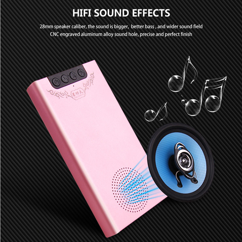 NEW SUNNYLINK MULTI-FUNCTION BLUETOOTH SPEAKER POWER BANK , 6800MAH BATTERY CAPACITY, 5V/2A FAST INPUT&OUTPUT , WITH LED DISPLAY
