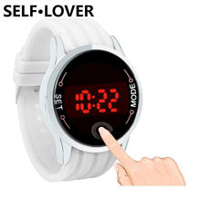 Top Luxus Marke SELFLOVER Wasserdicht Casual Uhr LED Touch Screen Smart Männer Armbanduhren Tag Datum Silikon Liebhaber Frauen Uhr(China)