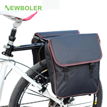 NEWBOLER MTB Bicycle Carrier Bag Rear Rack Bike Trunk Bag Luggage Pannier Back Seat Double Side Cycling Bycicle Bag