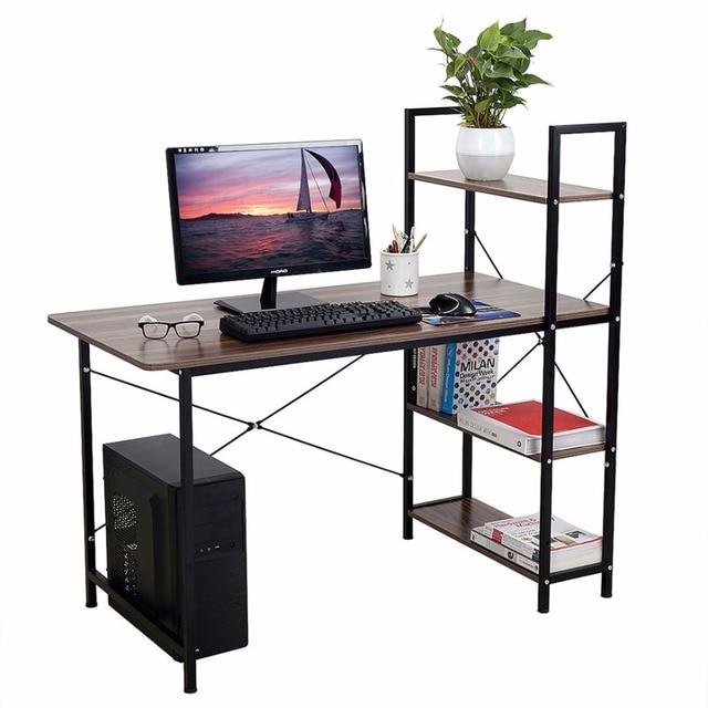 Home Office 4 Tier Computer Desk Table Storage Shelf Rack