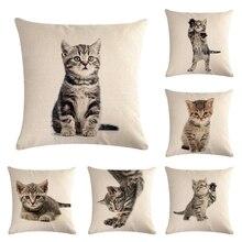 Pet Чехол для подушки с кошкой собака для детей Декоративные Чехлы для дивана подушка для автомобильного кресла Декор Наволочка Чехол almofadas