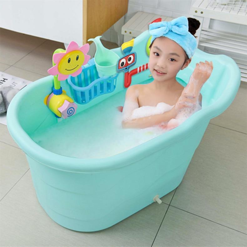 Aliexpress.com : Buy Large size children\'s bath barrel baby bathtub ...