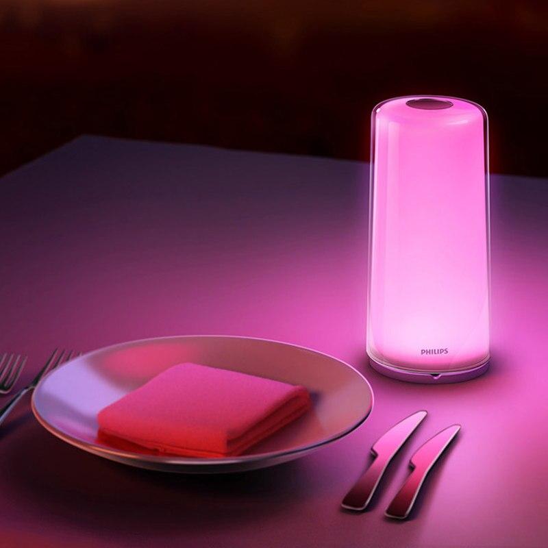 Xiaomi mi jia Custo mi ze inteligente LED lámpara RGBW regulable noche luz USB tipo C WiFi Bluetooth Smart mi casa APP Control - 4