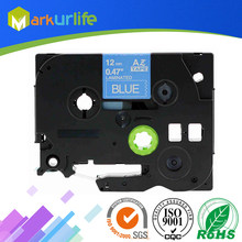 1 stks/partij 12mm * 8 m Tze 535 Tze535 Wit op Blauw Gelamineerd Tape Compatibel P touch 12mm tze-535 Label Tape Cartridge tz535 tze-535(China)