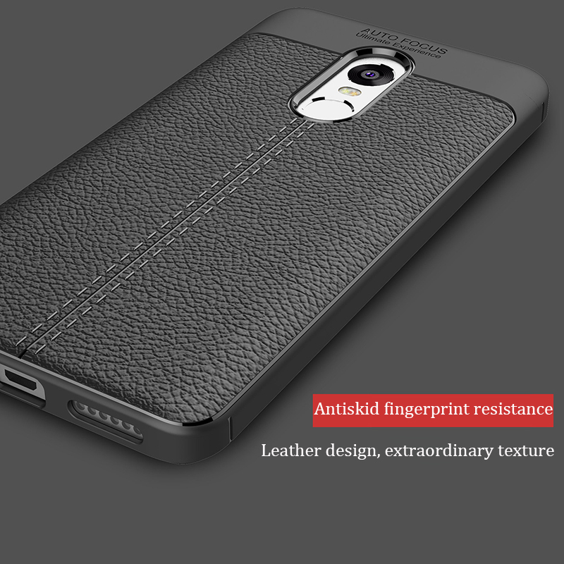 Luxury Soft Silicon Litchi Striae Leather Case for Xiaomi 6 Redmi 4A 4X Cack Cover for Redmi Note 4X 32GB Shock Proof Back Cover
