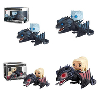 FUNKO POP Game Of Thrones NIGHT KING & ICY VISERION Daenerys Rides Drogon Action Figure Collectible Model Toys for Children Gift