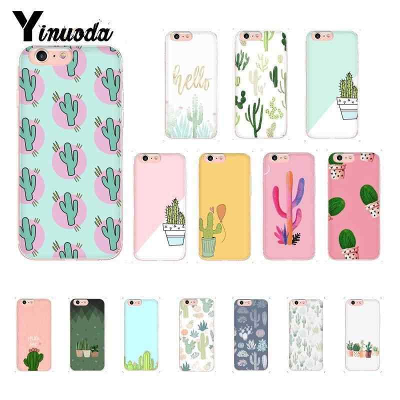 Cute Cactus iPhone Cases Unique Design Candy Color Phone Cover en