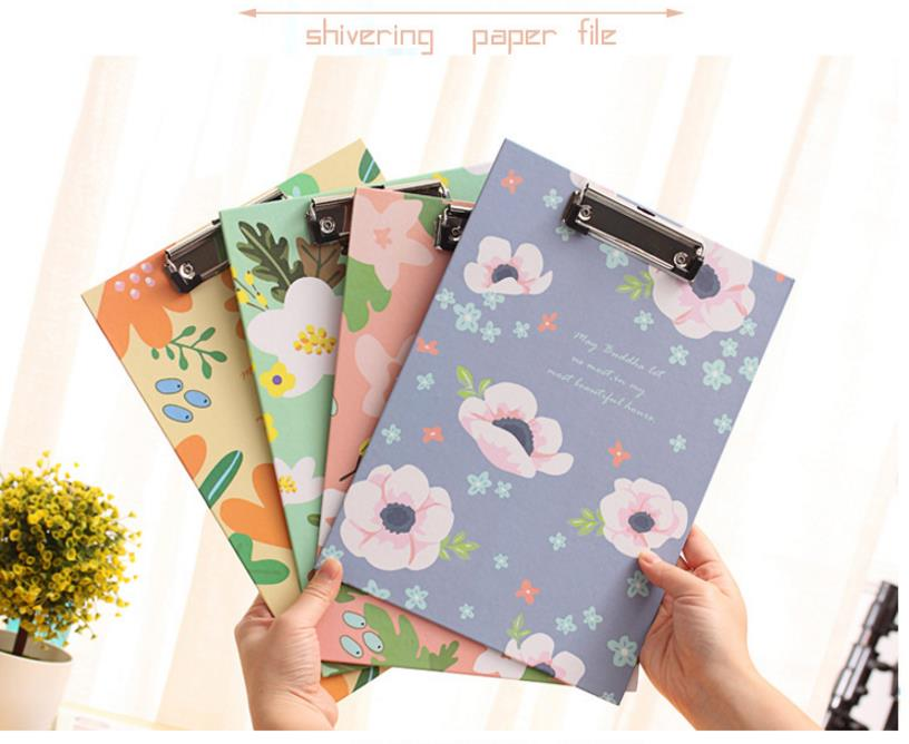 aeProduct.getSubject()  Cute Flower sequence A4 folder board Pill holder paper writing pad clipboard for little one reward workplace provides/ stationery four colours HTB1ev07e138SeJjSZFPq6A vFXaQ