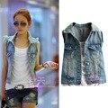 2014 Корейская версия новой весной и летом моде джинсовые рукавов джинсовой жилет женский жилет жилет куртка пальто