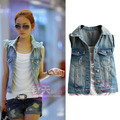 2014 Korean version of the new spring and summer fashion denim sleeveless denim vest female vest waistcoat jacket coat