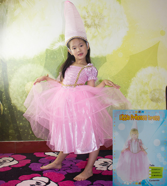 Free shipping children girl cosplay Sequins flashing little pink princess dress costume + hat  sc 1 st  AliExpress.com & Free shipping children girl cosplay Sequins flashing little pink ...