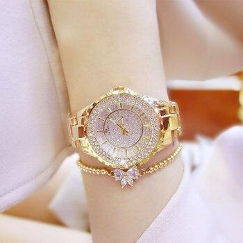 Geneva Quartz Rhinestone Wrist Watch