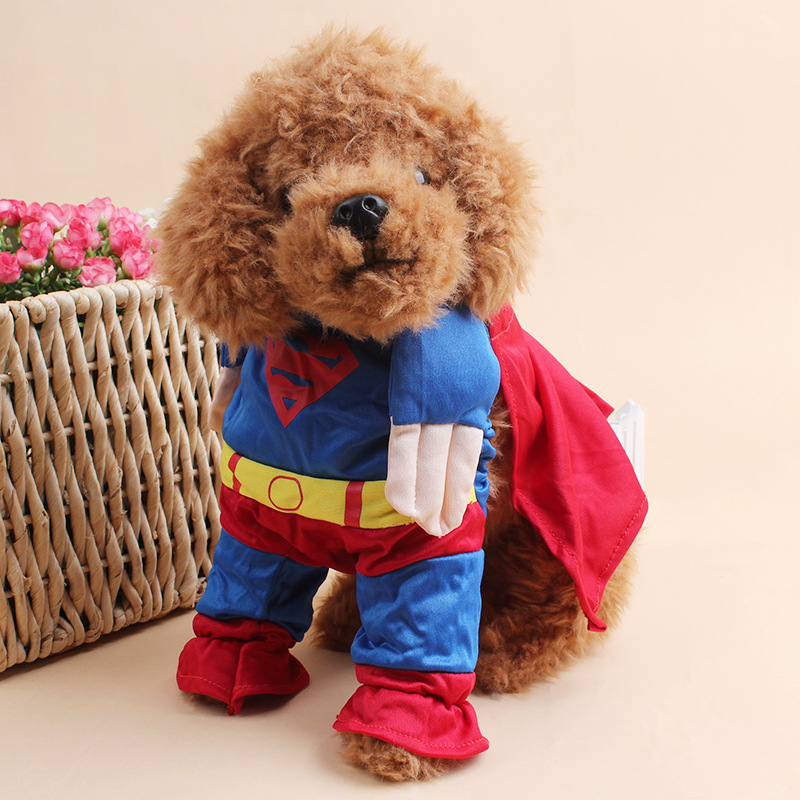 New dogs cats fashion shirt doggy clothes super man cloak puppy apparel t shirt