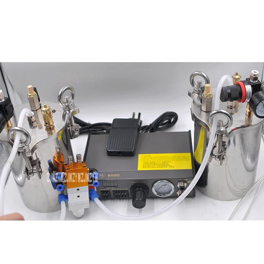 MY-2000 Glue Dispenser Equipment Accurate Automatic Glue Dispensing Machine AB Glue Filling Machine With 2pcs 3L Pressure Tanks high quality ft 982 automatic glue dispenser dispensing machine with glue tips & glue cylinder