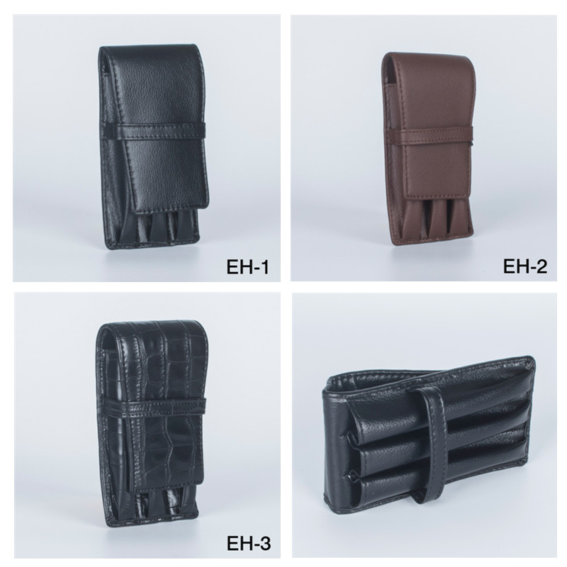 NEW CROCODILE SKIN PATTERN Coffee And Black Options  PU LEATHER GIFT PEN CASE ACCOMMODATES 3 PENS School Pencil BAG