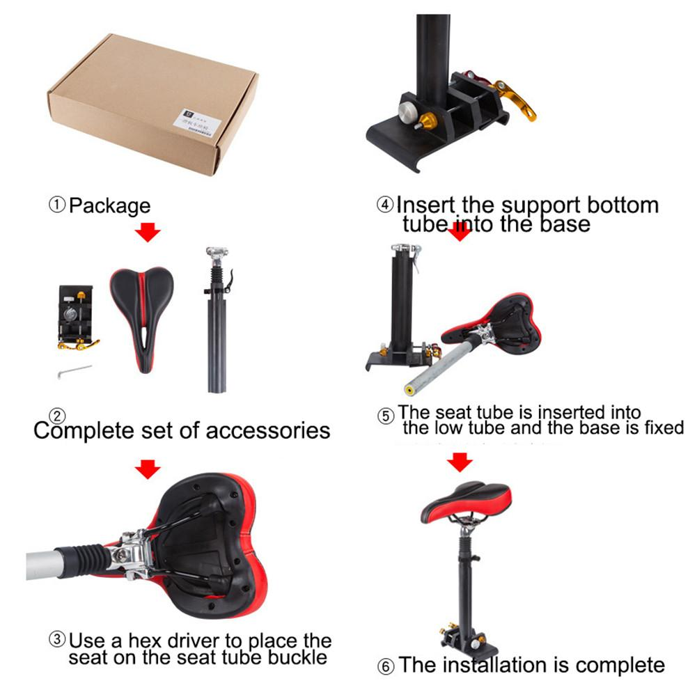For Xiaomi M365 Electric Scooter Avoid Punching Alloy Soft Seat Electric Skateboard Saddle Chair Easy Install Scooter Parts
