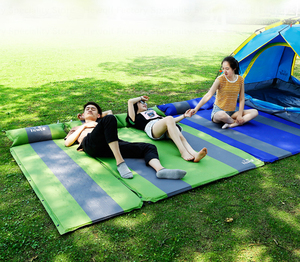 Image 5 - Hewolf Automatic Inflatable Camping Mat Double Persons Widening Dampproof Splicing Sleeping Mat Tent Mat Outdoor Camping Travel