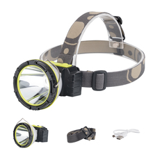 Lights Lighting - Portable Lighting - Multi-function 2 in 1 Portable Headlamp 3 Modes Headlight Flashlight 2*LED USB Charging Torch Lamp with Hook Use 1*18650 battery