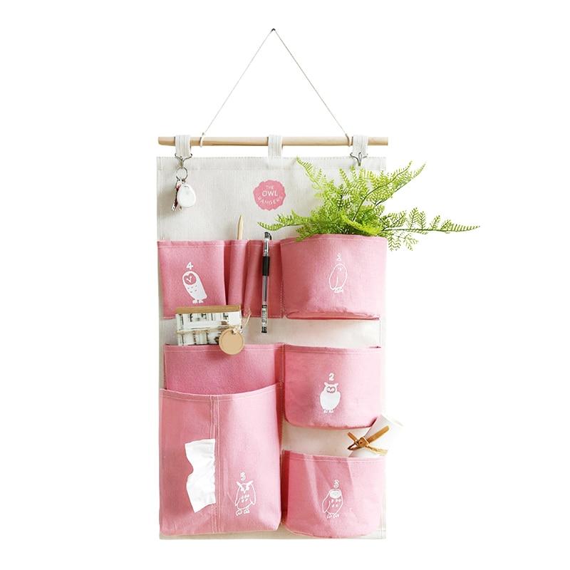 Висит организаторы карман ткань ювелирные Toy разное стены Дверь сумка для хранения Шкаф держатель аксессуары поставок вещи