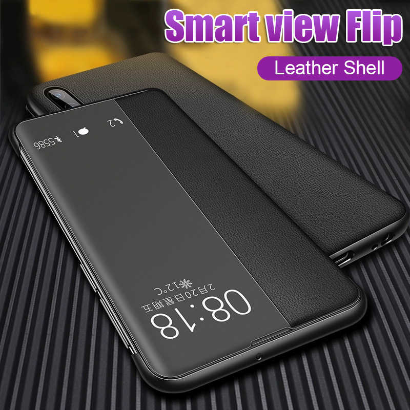 Luxury Leather Flip Phone Case Cover The For Huawei P30 P20 Lite Shockproof Case For Huawei P20 P30 Pro Honor 8x Smart View Case