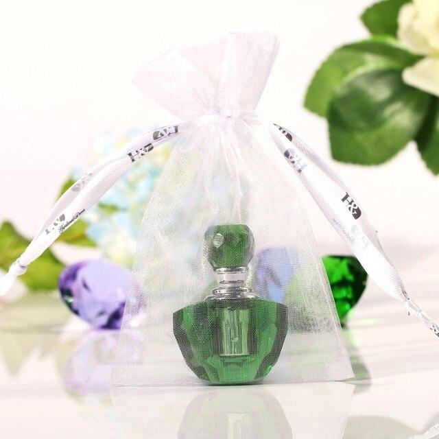 50 Piece/lot  2ml Mini Green Perfume Bottle Refillable Perfume Glass Bottle Refillable Empty Perfume Bottle