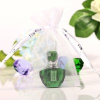 50 Piece/lot 2ml Mini Green Perfume Bottle Refillable Perfume Glass Bottle Refillable Empty Perfume Bottle
