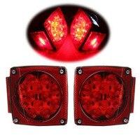 1 Pair Set LED DC 12V Waterproof Car Truck Trailer Stop Brake Light Side Marker LED