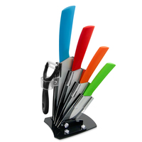 New Ceramic Knife Zirconia Kitchen Knives 3 4 5 6 Peeler Holder Kitchen Cooking Knives White