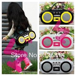 wholesale retail children Radio design satchel/baby fashion shoulder bags/kids multifunction messenger bags/ free shipping