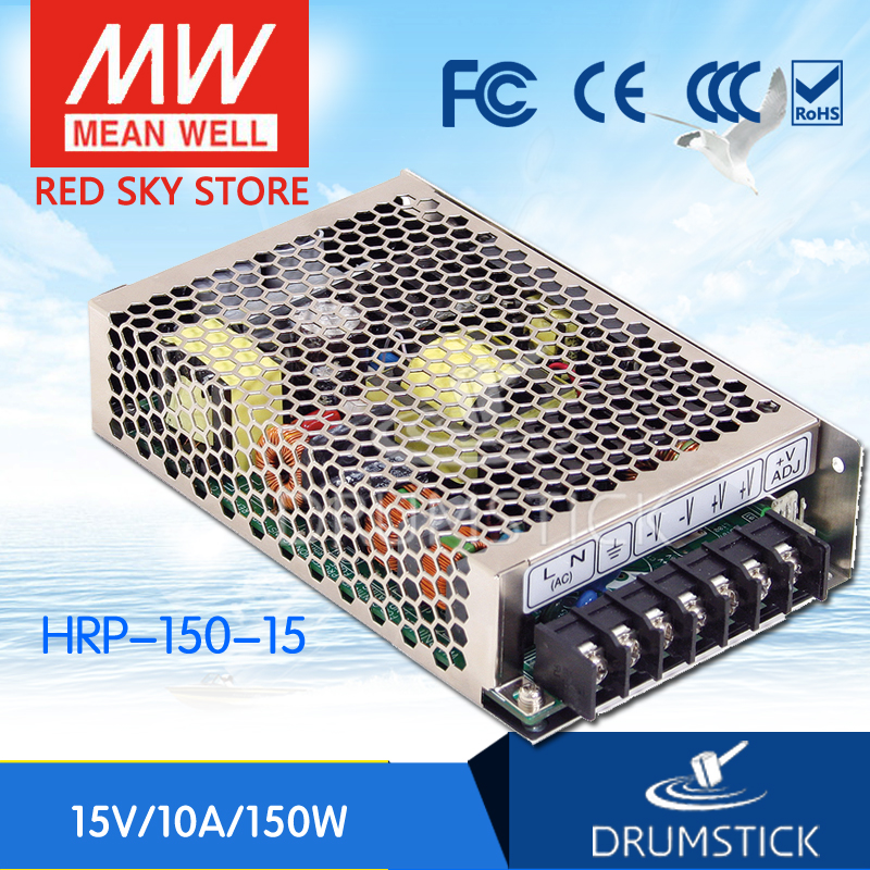 Hot sale MEAN WELL HRP-150-15 15V 10A meanwell HRP-150 15V 150W Single Output with PFC Function Power Supply [mean well1] original epp 150 15 15v 6 7a meanwell epp 150 15v 100 5w single output with pfc function