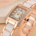 2016 New KIMIO Luxury Brand Quartz Women Watches Diamond Clock Bracelet Ladies Dress Gold Wristwatch with FREE Gift Box female
