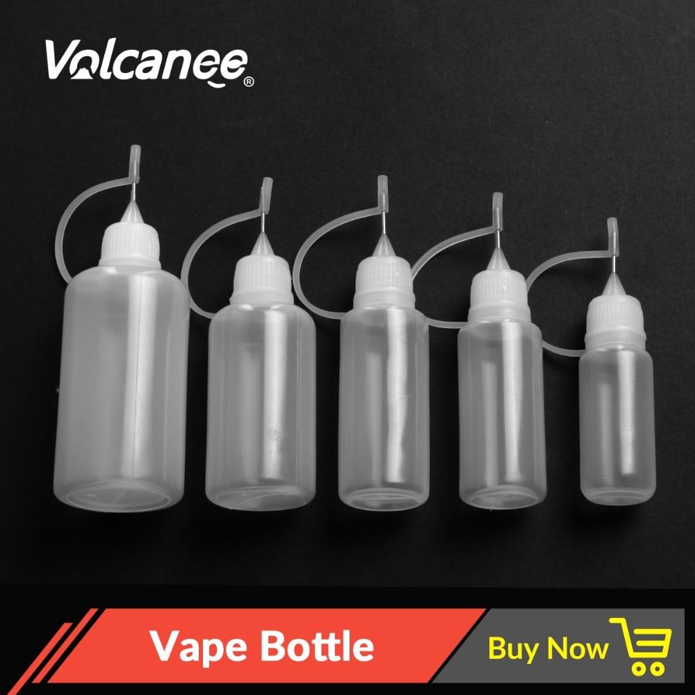 Volcanee 5pcs E Liquid Bottle 10ml 20ml 30ml 50ml Plastic Dropper Bottle Vape Juice Vaporizer Electronic Cigarette Accessories