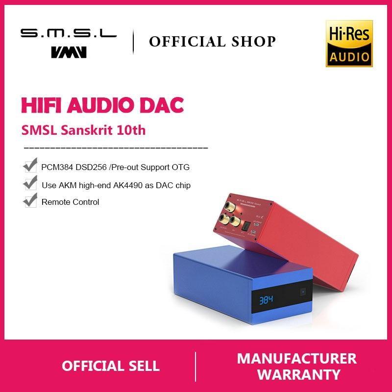 SMSL Sanscrito 10th SK10 Hifi Decoder Digitale AK4490 PCM384 DSD256 DAC Pre-out Supporto Accelerometro OTG con Telecomando di Controllo
