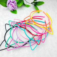 5 Pieces Plastic Cat Ear Headbands Mix Color Hairbands Girls Kids Party Supplies and Daily Decorations Hair Jewelry Accessories