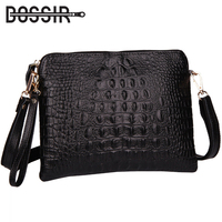 Genuine Leather Women Bag Fashion Women Handbag Alligator Embossed Crocodile Pattern Women Messenger Bags Clutch HB