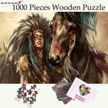 MOMEMO Squaw and Horse 1000 Pieces Wooden Puzzle for Adults Jigsaw Customized Children Teenagers