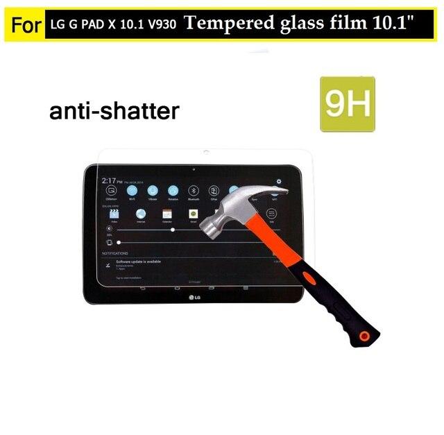 """10.1 """"mejor premiem 0.3mm 9 H Vidrio Templado de cine para LG G PAD X 10.1 V930 comprimido hd frontal Anti-añicos Protector de Pantalla de cine"""