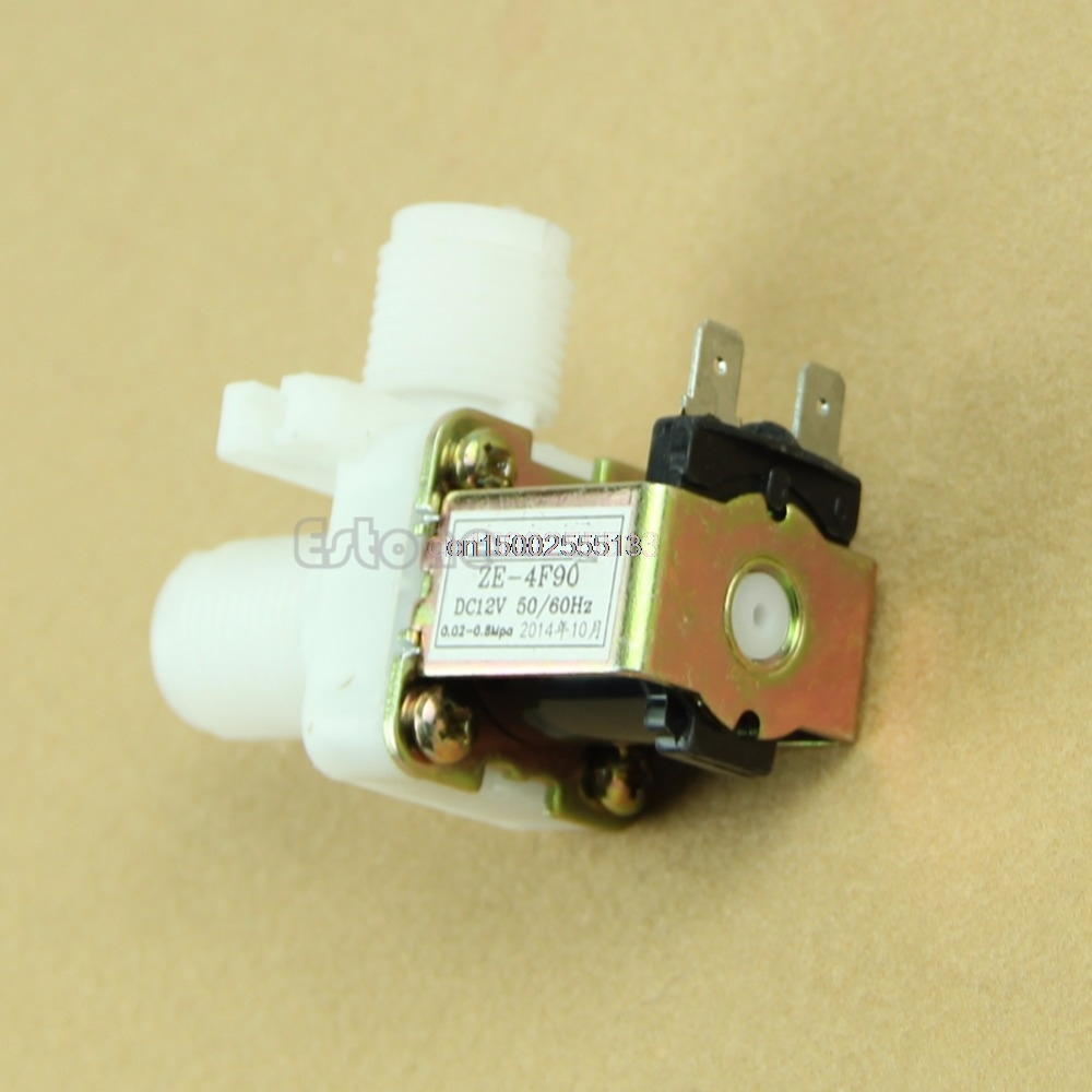 Water Valve DC 12V Electric Solenoid Valve Magnetic N/C Water Air Inlet Flow Switch 1/2