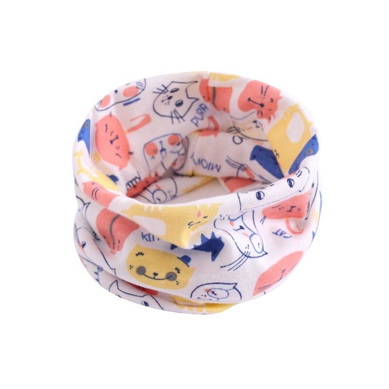 Детский хлопковый шейный шарф с милым принтом; детский теплый шарф; Детские воротники; осенне-зимний шарф-кольцо для мальчиков и девочек; аксессуары для детской одежды - Цвет: wb004