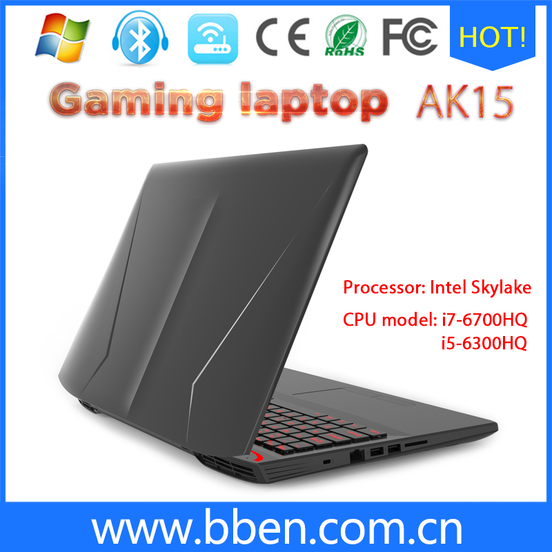 BBen 15.6 inches Intel Laptop Gaming Computer Intel i7 CPU Intel Skylake i7 6700HQ Quad Core DDR4 Windows 10 Backlit Keyboard