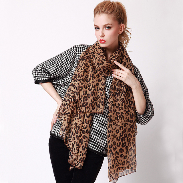 2013 women's leopard print ultra long paragraph elegant of silk scarf