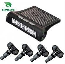 Smart Car TPMS Sistema de Monitoreo de Presión de Neumáticos TPMS Pantalla LCD Digital Automático de Energía Solar Sistemas de Alarma de Seguridad